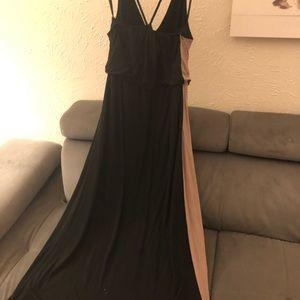 Mossimo Brown/Black Tulip High Low Dress